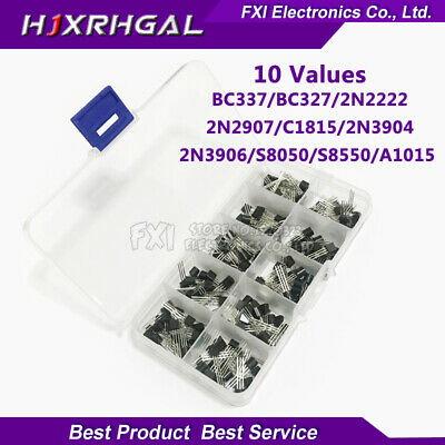 10value 200pcs Bc337 Bc327 2n2222 Pack Box Transistors Kit Assortment Transistor