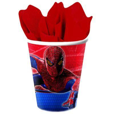 Spiderman Paper Cups (Spider-Man 9 oz Paper Cups 8 Ct Amazing Spiderman Birthday Party Supplies)