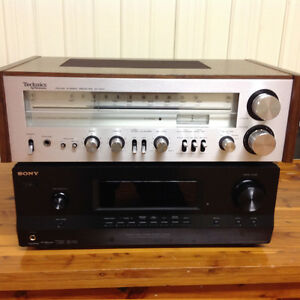 Sony and Technics receivers for sale