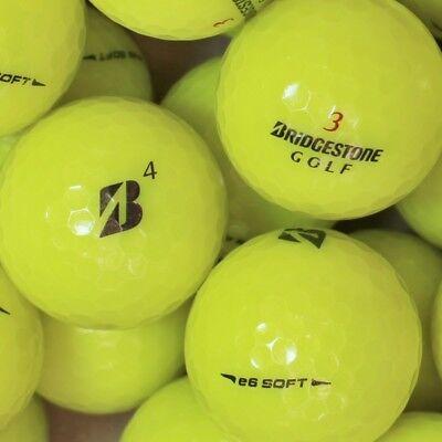 60 Bridgestone e6 Soft Gelb Golfbälle AAAA Lakeballs Bälle in Top-Qualität Golf ()