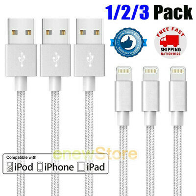 For iPhone 6 7 8 iPhone XS XR 5 Lightning Charger Cable Heavy Duty Charging Cord
