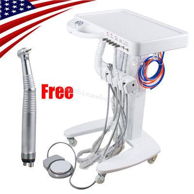 Portable Mobile Dental Delivery Unit Cart Treatment Machine 4 Hole Handpiece