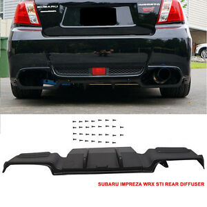 2011 - 14 Subaru WRX STi Sedan Rear Bumper Lower Diffuser