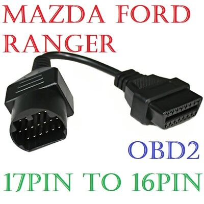 17 Pin to 16 Pin OBD2 Diagnostic Cable Adapter Connector For Mazda Ford Ranger