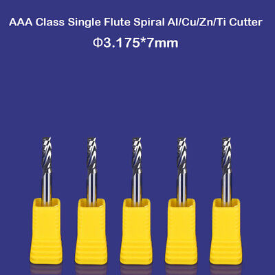 5pcs Aluminium Cutting One Flute Cnc Router Milling Cutter Bits Tool 18 7mm