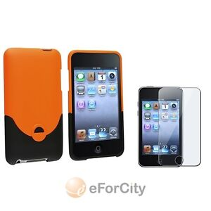 Rubber Hard Case Skin Cover+Screen LCD Protector For Apple iPod Touch 3G 3rd Gen