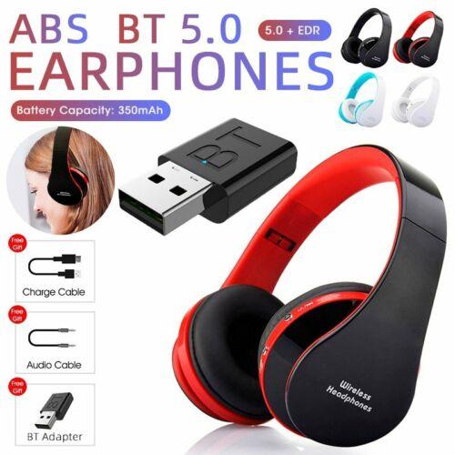 Super Bass Wireless Bluetooth 5.0 Headphones 9D Stereo Earphones TV Headsets Mic
