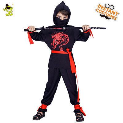 Cool Kids Costume (Boys Ninja Costume Kids Masquerade Party Cool Assassin Decoration Fancy)