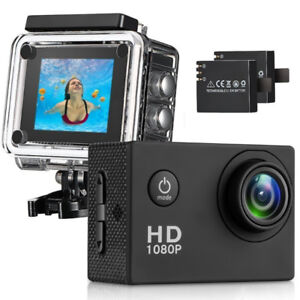 Action Camera; Waterproof Sports Camera 12MP 1080P 2 Inch LCD
