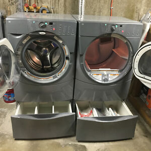 Whirlpool Washer Dryer with 2 stands
