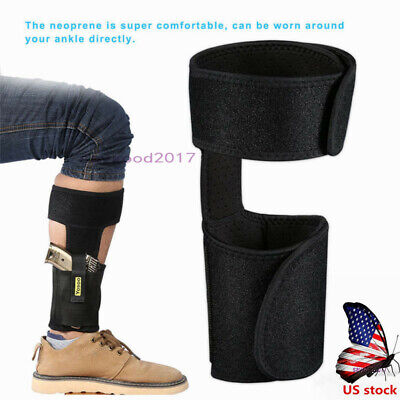 - US Hidden Ankle Holster Carry Revolver Wrap Magazine Pocket For Bodyguard Police