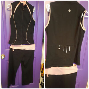 Lululemon running vest and capris set