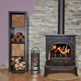 5KW MULTIFUEL STOVE !!! free delivery multi fuel wood burner flue liner pipe flexible boiler stoves