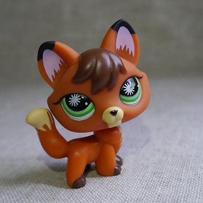 Brown Green Eyes Little Fox  LPS mini Action Figures #807 LITTLEST PET SHOP