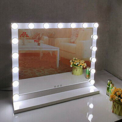 Hollywood Lighted Makeup Mirror with Lights + 17 LED Dimmable Bulbs UK