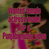 Female model/actress wanted for Punjabi song
