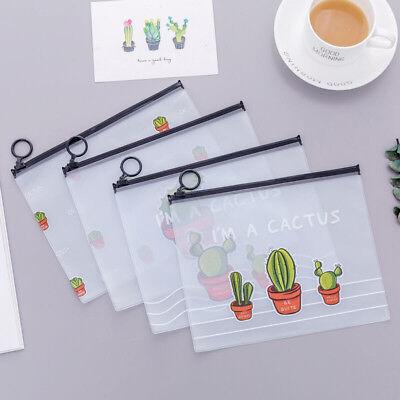 Clear Lovely Pencil Case Makeup Cosmetic Pouch Pocket Brush Holder Bag Pop PVC - Plastic Pencil Case