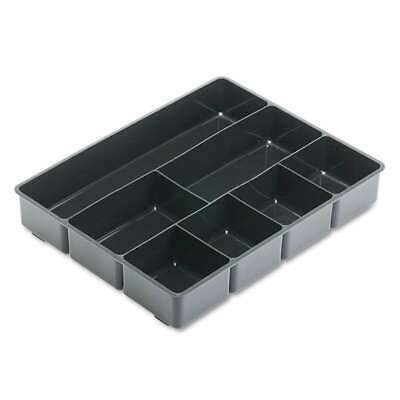 Rubbermaid Extra Deep Desk Drawer Director Tray Plastic Black 018421119065