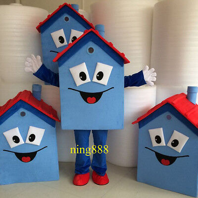 2017 Blue House Mascot Costume Festival Fancy Dress Adult Party Clothing Gfit](Halloween Fancy Dress Party 2017)