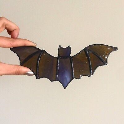 Halloween Bat decor Stained Glass Suncatcher Ornament home Window art decor](Stained Glass Halloween)
