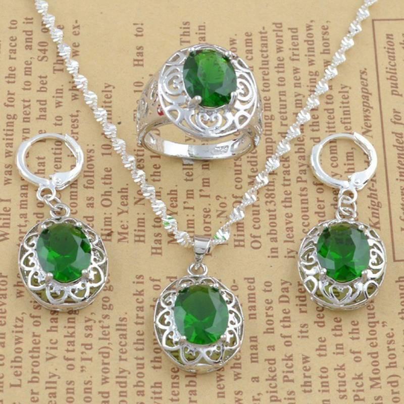 women jewelry set 925 silver pendant necklace