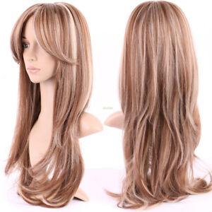Blonde Brown high quality synthetic wig