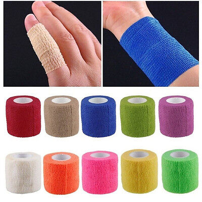 1x Elastic Roll Sports Physio Muscle Strain Injury Support Self Adhesive Bandage