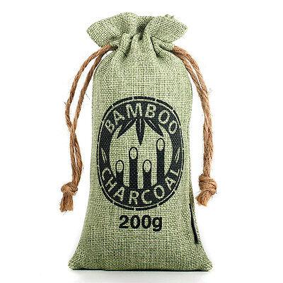 Kmise Air Purifying Bag Bamboo Charcoal Bag Air Freshener Odor Deodorizer 200g