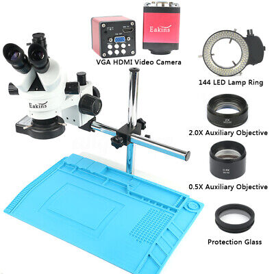 3.5-90x Simul-focal Trinocular Stereo Microscope13mp 720p Vga Hdmi Video