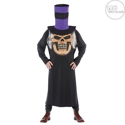 Mottoland 119197 Halloween Kostüm / Robe - Verrückter Horror Schädel - - Schädel Kostüm