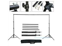 10Ft Heavy Duty Adjustable Photography Background Support Stand Kit With Case- NEW