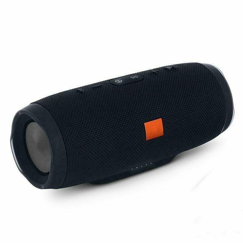 New Charge 3+ Portable Waterproof Black Bluetooth Speaker Wireless Unbranded