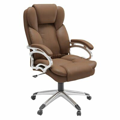 Executive Office Chair In Caramel Brown Leatherette