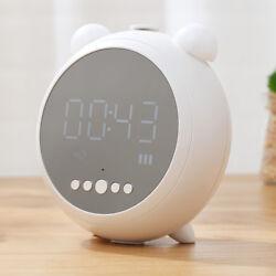 Portable Bluetooth 4.1 Wireless Stereo Speaker with Alarm Clock FM Radio LED