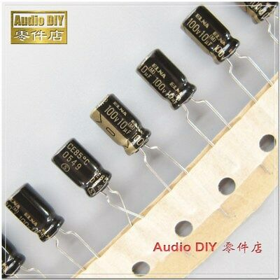 20pcs Elna Black Gold Letter Rfo Series 10uf100v Audio Electrolytic Capacitor