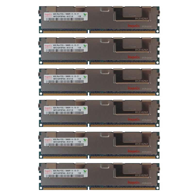 48GB Kit 6x 8GB DELL POWEREDGE T410 T610 R610 R710 R715 R810 R720xd Memory Ram