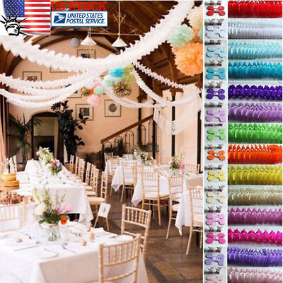 3M Tissue Paper Clover Hanging Garland Strings Wedding Birthday Party Home Decor - Tissue Paper Decorations