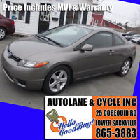 2007 Honda Civic EX Coupe SUNROOF Sharp Car NEW MVI Bedford Halifax Preview