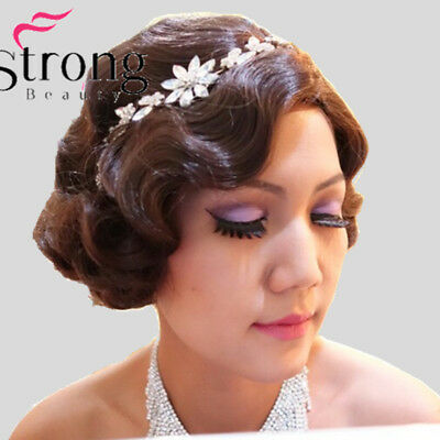 1920s Style Wigs (1920's Flapper Hairstyles for Women Finger Wave Wigs Retro Style Short)