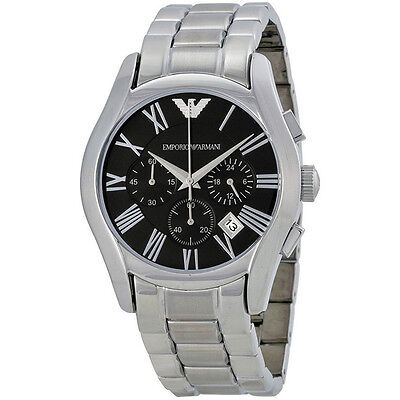 d333c3c4c06 Emporio Armani AR0673 Classic Chronograph Black Dial Stainless Steel Mens  Watch