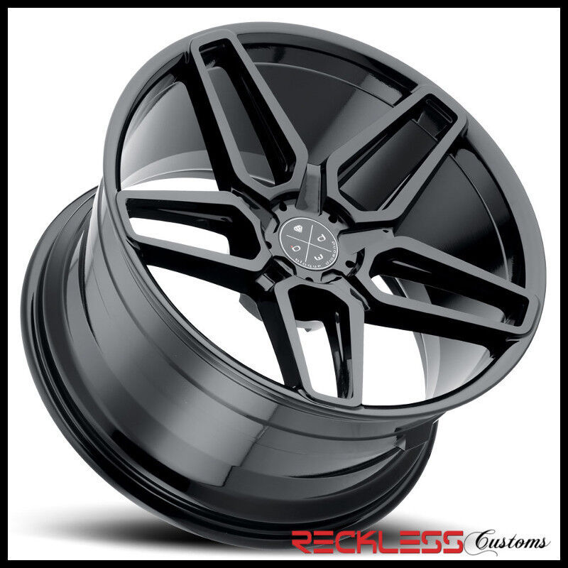 "Blaque Diamond 24"" Bd17 Gloss Black Concave Wheel Rim Fits Range Rover"
