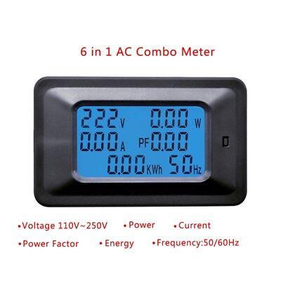 20100a Lcd Digital Panel Power Watt Meter Monitor Voltage Kwh Voltmeter Ammeter