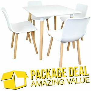 DEAL - Cafe / Restaurant Table with 4 Replica Hal Dining Chairs Silverwater Auburn Area Preview