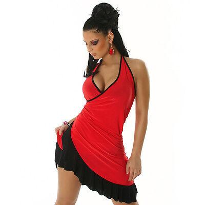 SEXY! NECKHOLDER MINIKLEID LATINA- LOOK SALSA KLEID TANZKLEID - Sexy Salsa Kleid