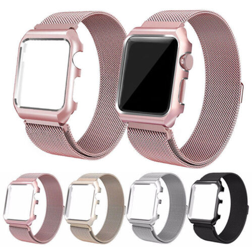 Stainless Steel Wrist Band Strap Case Cover For Apple Watch