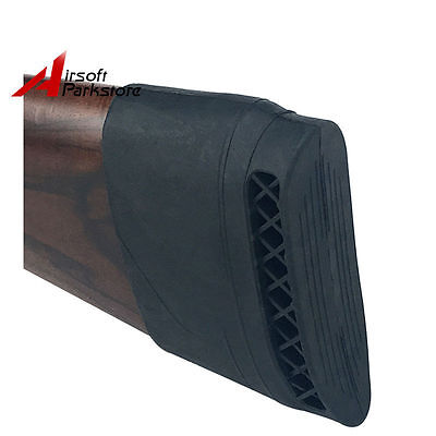 Black Rifle Shotgun Rubber Slip On Recoil Pad Gun Buttstock Extension Protector