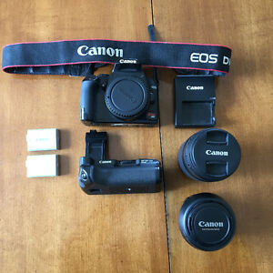 Canon Rebel xs with 18-55mm & 75-300mm