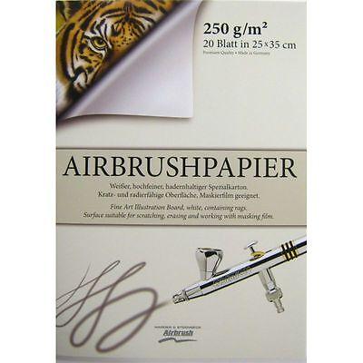 Airbrush-Block 350 x 250 mm 170102 Premium Qualität Airbrushpapier