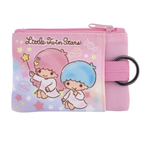 Sanrio Little Twin Stars Double Zip Pouch with Key Ring Card Holder (9-7132-4)