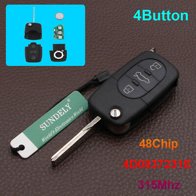 New Keyless Remote Control Car Key Fob 31 Button 315MHz for Audi A4 A6 A8 TT S4